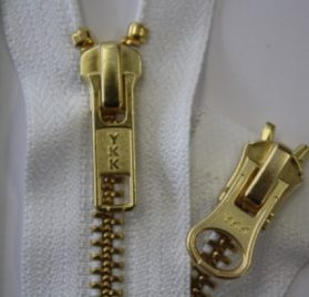 #5 Brass 2-way Jacket Zippers